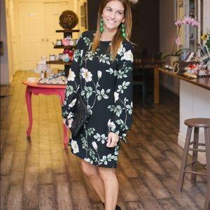 NWT H&M Floral Tie Sleeve Dress Sz 12
